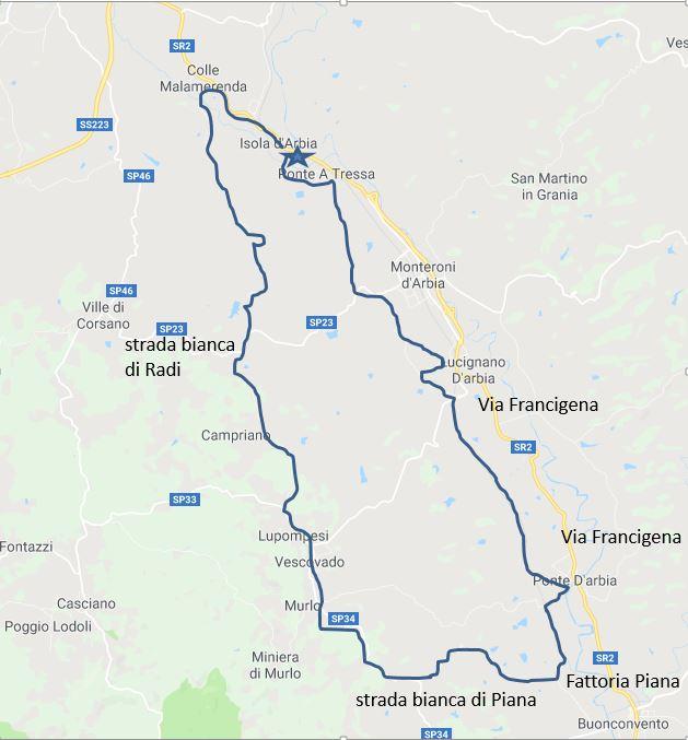 Mappa Val Arbia